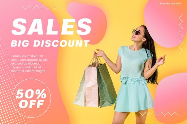 Modern sales discount banner template