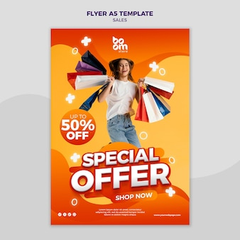 Modern sales flyer template