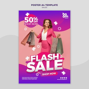 Современный шаблон плаката продаж
