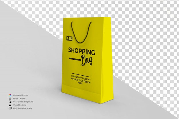 モダンなショッピングバッグのモックアップ