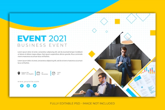 Modern simple banner template for business