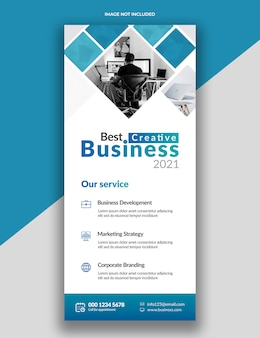 Modern simple corporate rollup standee x-banner template