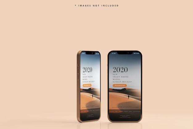 Mockup di telefoni intelligenti moderni