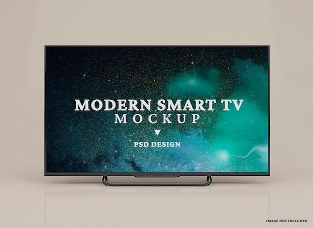 Modern smart tv mockup  design