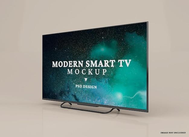 Современный умный дизайн макета телевизора