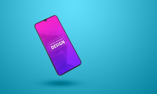 Modern smartphone mockup design isolated