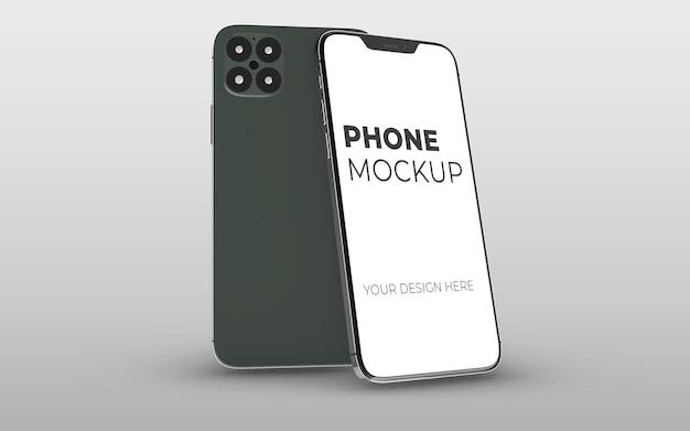 分離された現代のスマートフォンのモックアップデザイン