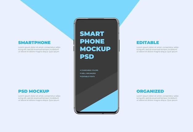 現代のスマートフォンのモックアップ Premium Psd