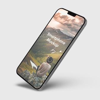 현대 스마트폰 목업