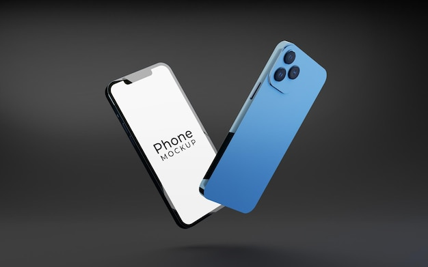 現代のスマートフォンのモックアップ