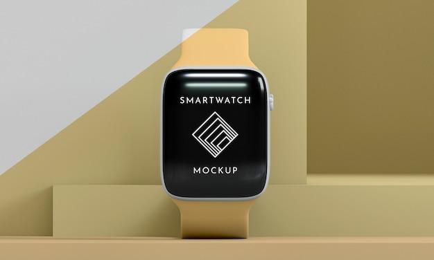 Smartwatch moderno con presentazione mock-up dello schermo