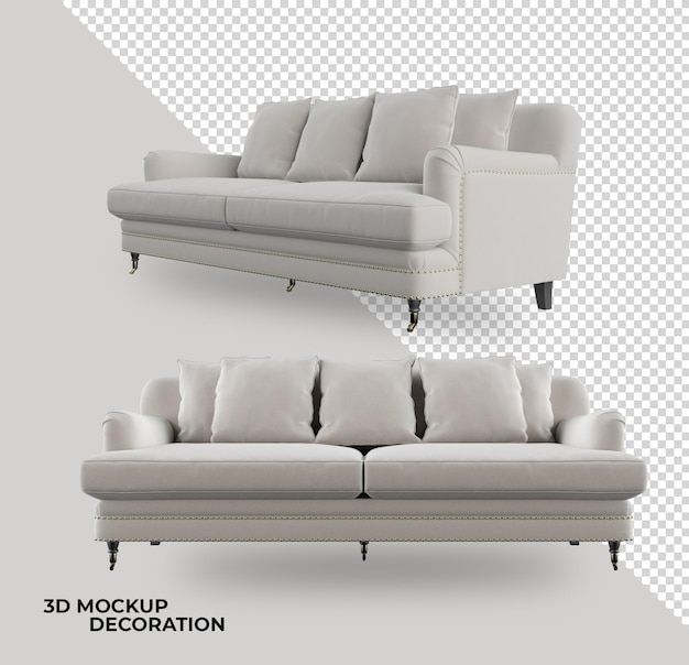 3dレンダリングのモダンなソファの装飾