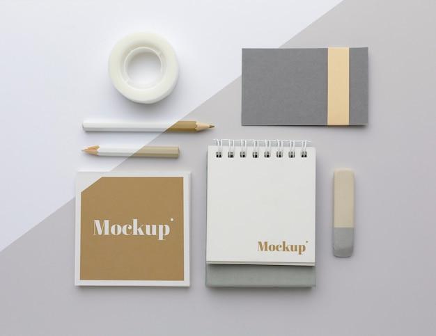 현대 문구 모형 배열