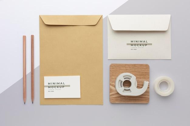 Modern stationery mock-up composition