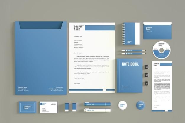 고립 된 현대 편지지 이랑 디자인