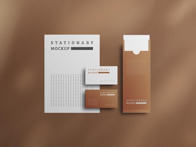Modern stationery mockup design