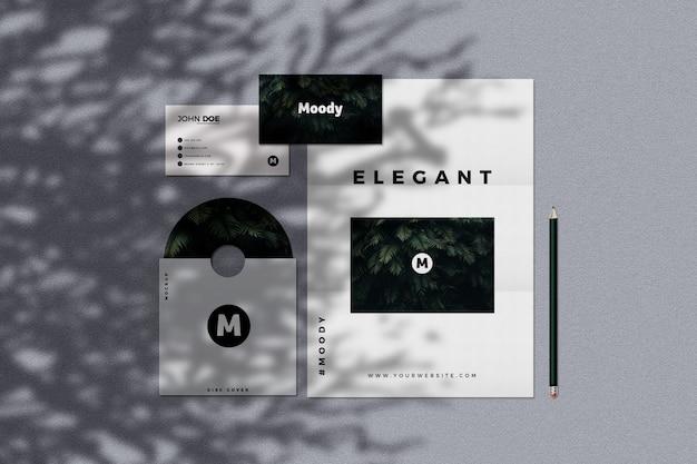 Modern stationery mockup
