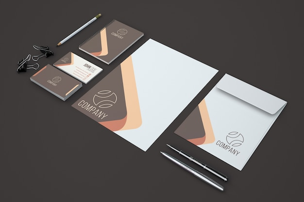 Modern stationery showcase