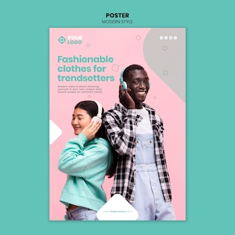 Modern style concept poster template