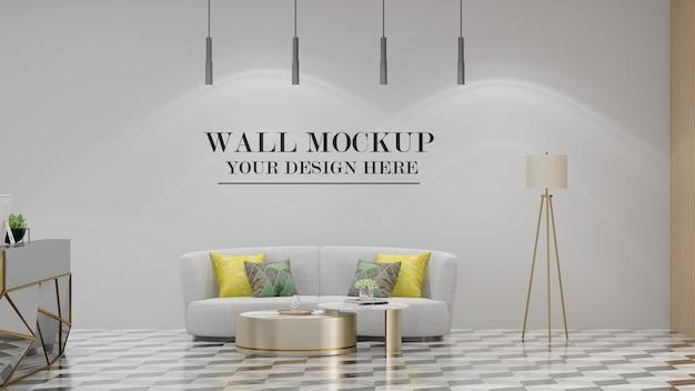 Modern style interior wall mockup design