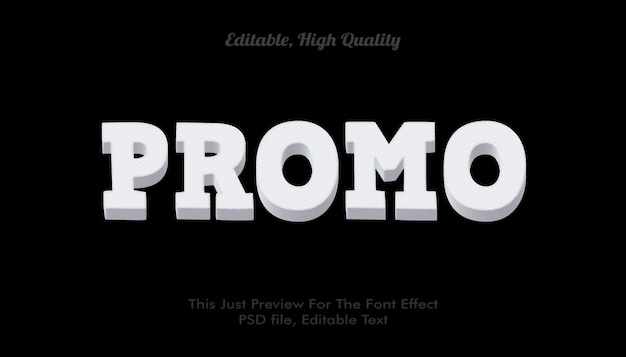 Modern styled 3d trendy, font effect mockup