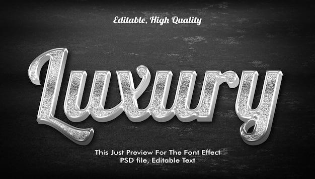 Modern styled 3d trendy, font effect mockup