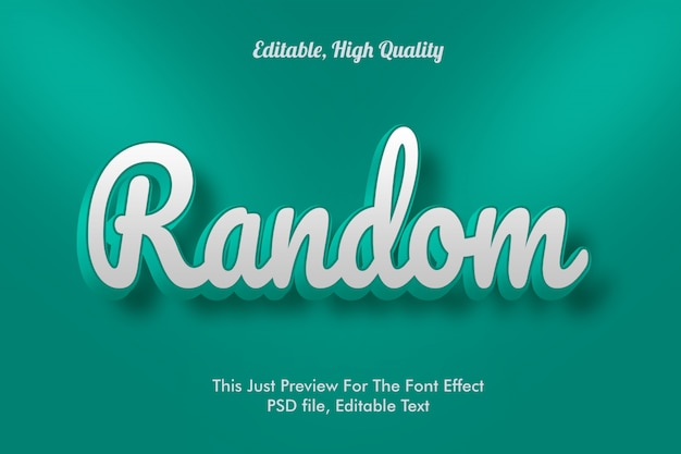 Modern styled 3d trendy, font effect template