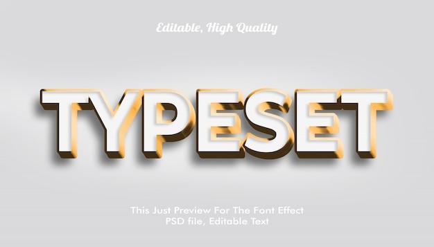 현대적인 스타일의 3d 트렌디 한 글꼴 효과