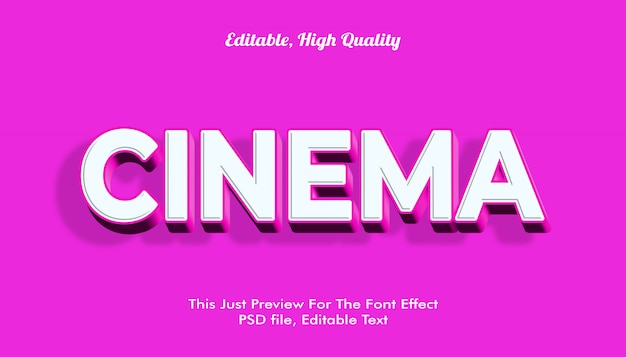 Modern styled 3d trendy font effect