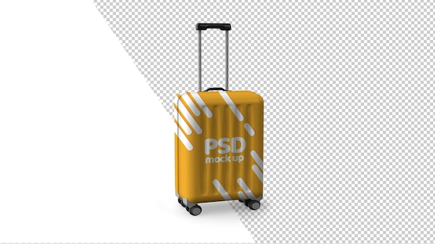モダンなスーツケースの3dレンダリング