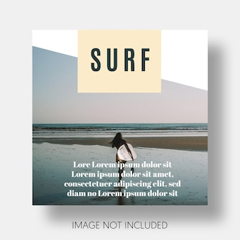 Modern surf template instagram