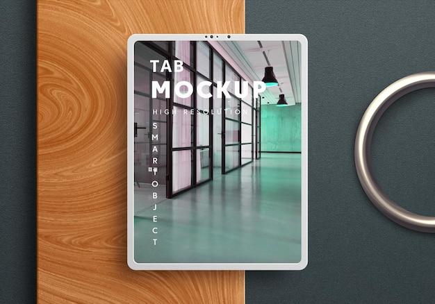 Modern tab mockup design