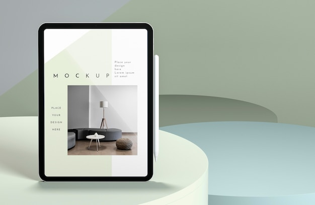 Presentazione di mock-up tablet moderno con spazio di copia