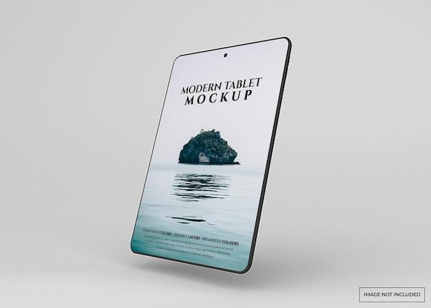 Современный планшетный макет изолирован