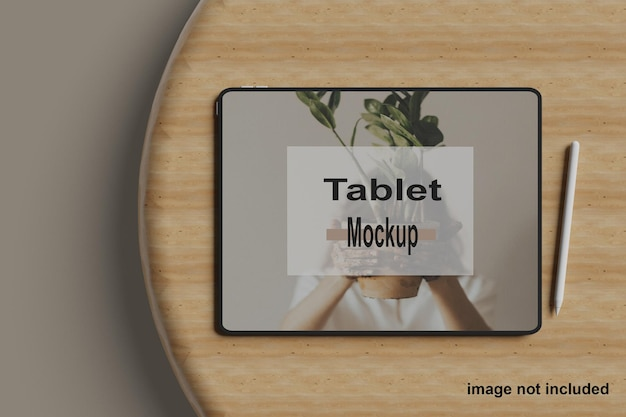 Modern tablet screen  design isolated mockup