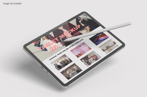 Modern tablet screen mockup Premium Psd