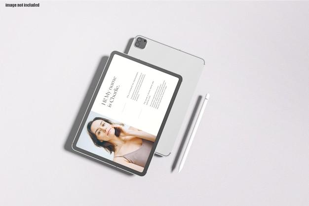 Modern tablet screen mockup