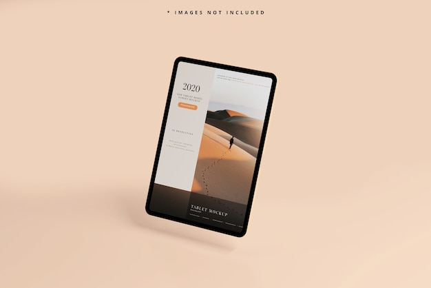 Modern tablet screen mockup