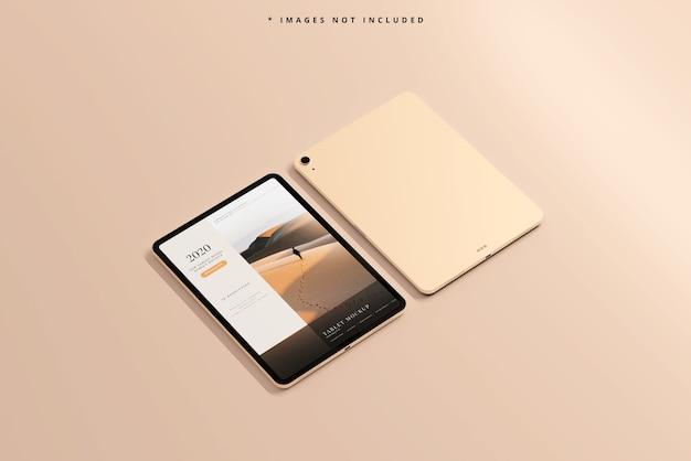 最新のタブレット画面のモックアップ