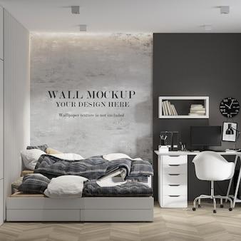 Modern teen room wall mockup design