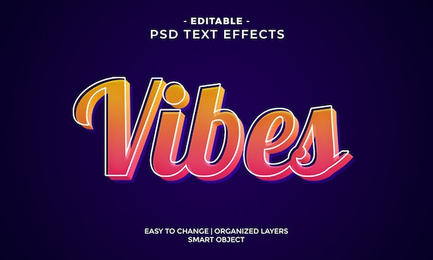 Modern trendy  vibes colorful text effect