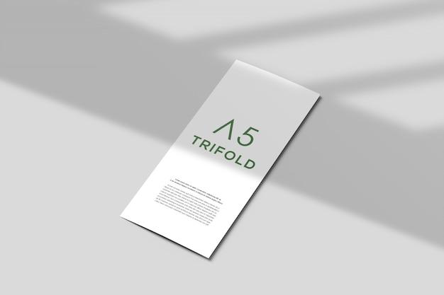 Modern trifold brochure mockup