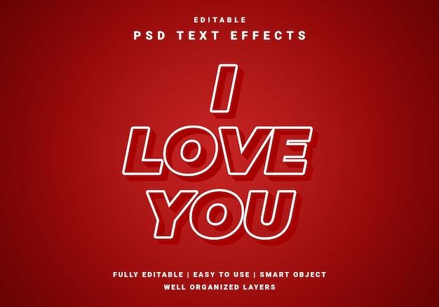 Modern valentine love text effect