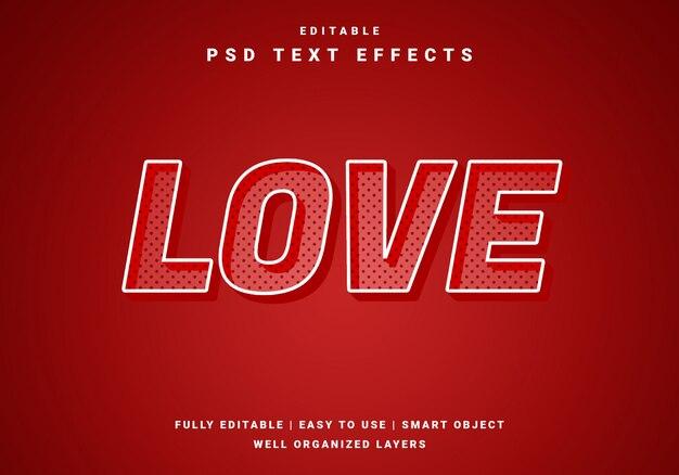 Modern valentine text effect