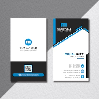 Modern vertical business card