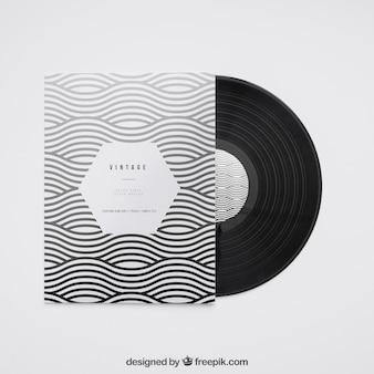 Modern vinyl mockup