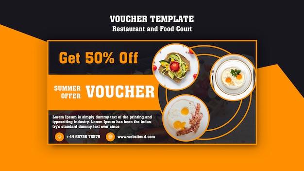 Modern voucher template for breakfast restaurant