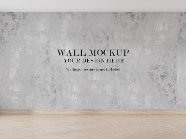 Modern wall mockup design in 3d rendered room