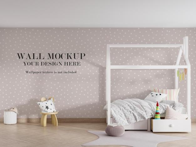 3dレンダリングされた部屋のモダンな壁のモックアップデザイン