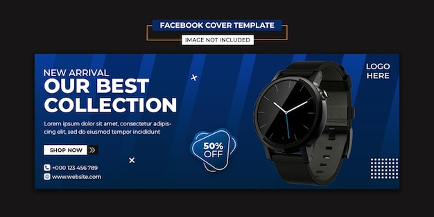 Modern watch social media and facebook cover template
